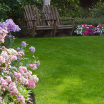 Image of 2 chairs on a beautifiul cared for lawn